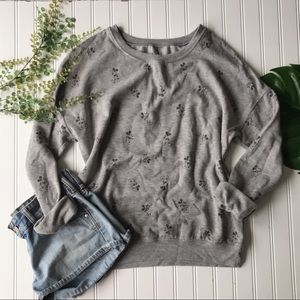 Disney Mickey Mouse pullover grey printed
